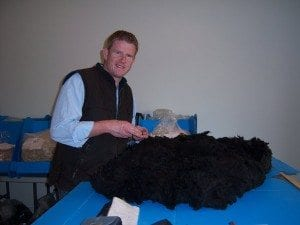 Tim judging fleece